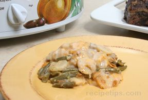 Slow Cooker Cheddar Green Beans