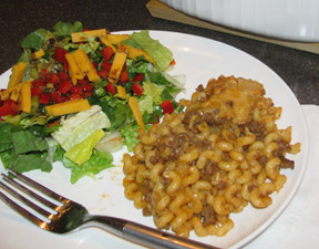 Chili Cheeseburger Macaroni Recipe