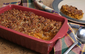 Sweet Potato Casserole with Pecan Topping Recipe