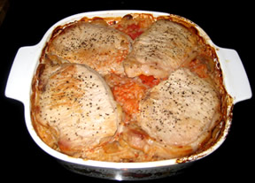 Pork Chop and Rice Casserole