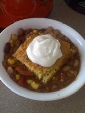 delicious tasty bean soup and cornbread Recipe