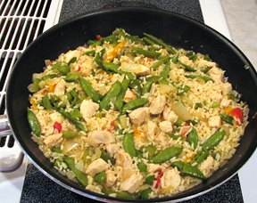 Stir Fried Chicken and Vegetables with Rice