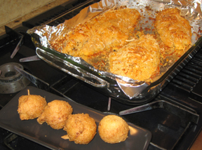 Easy Oven Baked Catfish and Hush Puppies