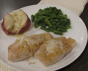 Cod Baked in Butter