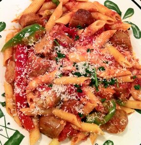 Olive Garden Sausage  Peppers Rustica