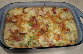 smoked sausage and penne bake Recipe