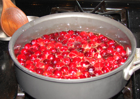 cranberry sauce with cinnamon and brandy Recipe