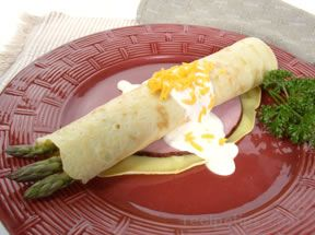 asparagus and ham crêpe Recipe