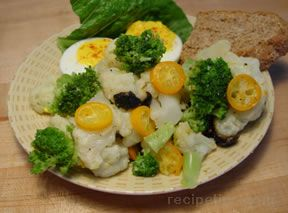 Broccoli and Cauliflower with Kumquats