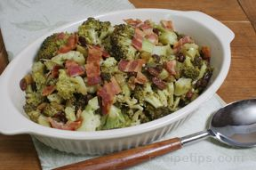 Broccoli with Hot Bacon Dressing