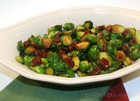 Brussels Sprouts with Bacon and Cherries