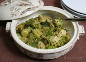 Braised Brussels Sprouts with Sage Butter