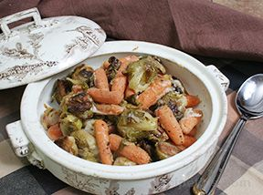 brussels sprouts and baby carrots with lemon dijon butter Recipe