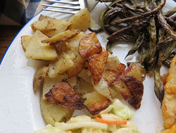 buttery grilled potatoes and onions Recipe