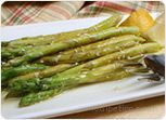 Asparagus with Lemon Zest and Vinaigrette Recipe