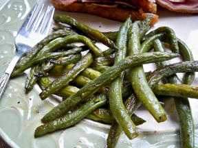 fried green beans Recipe
