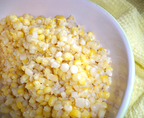frozen sweet corn not precooked Recipe