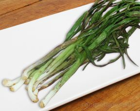Grilled Green Garlic