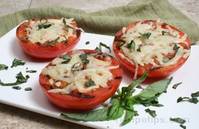 Grilled Tomatoes with Mozzarella
