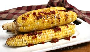 Grilled Corn with Chipotle Molasses and Orange Glaze