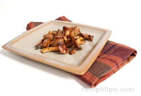 Sauteed Fresh Hedgehog Mushrooms