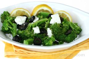 Lemon Broccoli with Olives
