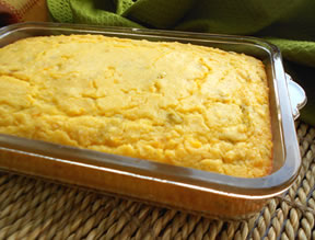 Mexican Corn Casserole with Green Chilies