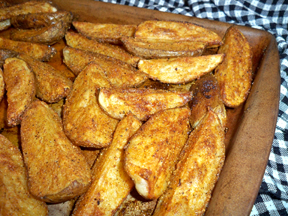 oven baked potato wedges Recipe