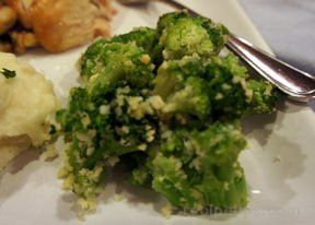 oven roasted broccoli with parmesan Recipe