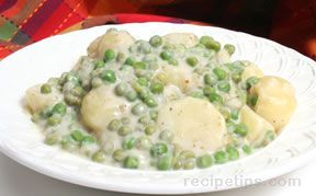 Creamed Peas and Potatoes Recipe