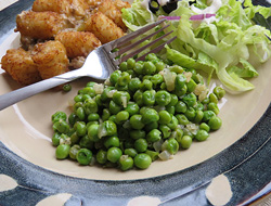 quick  easy italian peas Recipe