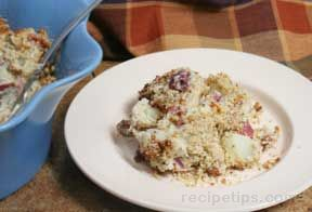 Ranch Bacon Mashed Red Potatoes
