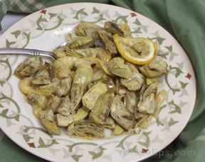 Roasted Baby Artichokes Recipe