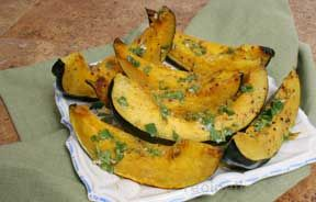 Roasted Acorn Squash with Spicy Vinaigrette