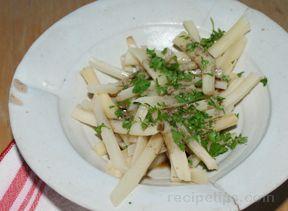 salsify with browned butter Recipe