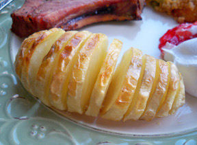 Sliced Oven Baked Potatoes