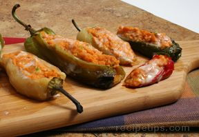 sweet potato and cheese stuffed chiles Recipe