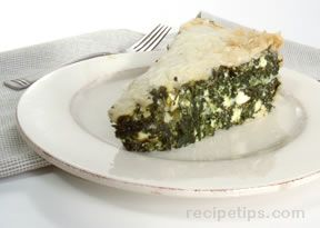 Spanakopita Spinach  Cheese Pie Recipe