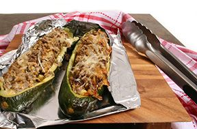Stuffed Zucchini in Foil Recipe