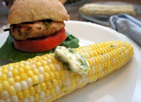 sweet corn with cilantro butter Recipe