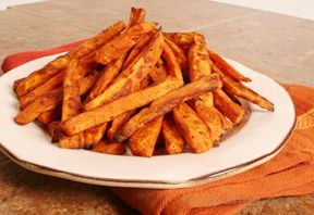 sweet potato oven baked fries Recipe