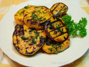 Grilled Sweet Potatoes with Lemon-Parsley Butter