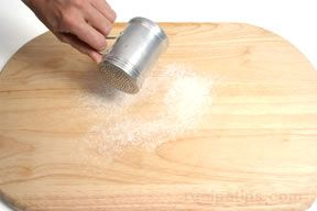 kneading dough hand kneading Article