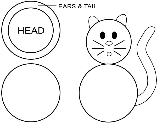 Black Cat Cake Template Article