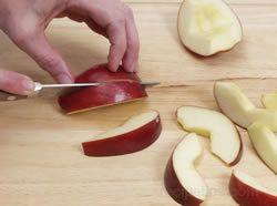 Cara Memotong Epal Dengan Betul
