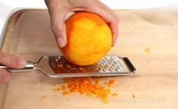 To Grate The Orange Zest Rub Diagonally Against A Metal Grater Making Sure Turn Fruit So That You Are Taking Off Part Of