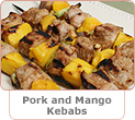 Pork and Mango Kebabs