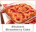Rhubarb and Strawberry Cake