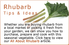 Rhubarb Tips & Ideas