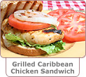 Grilled Caribbean Chicken Sandwich